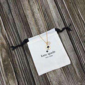 Kate Spade Spot The Spade Necklace in Black